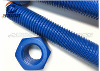 ASTM A193 B7 Stud Bolt Xylan Blue , Threaded Steel Bar With ASTM A194 2H Nuts