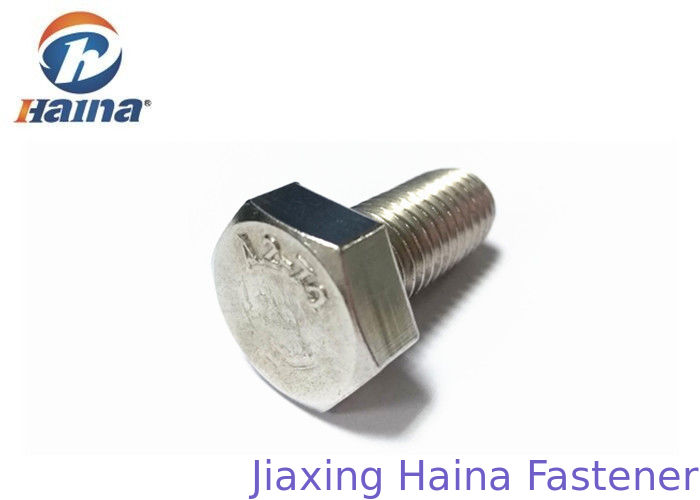 Stainless Steel Hex Head Bolts A2-70 Hexagon Head Screws With Through Hole
