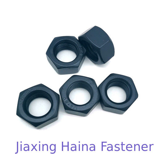 8 Grade Carbon Steel Black Teflon Coated Hex Head Nuts For OEM Service
