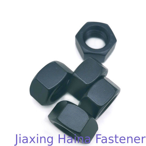 Stainless Steel Ss304 Low Profile Hex Nut Black Teflon Coated For Industry